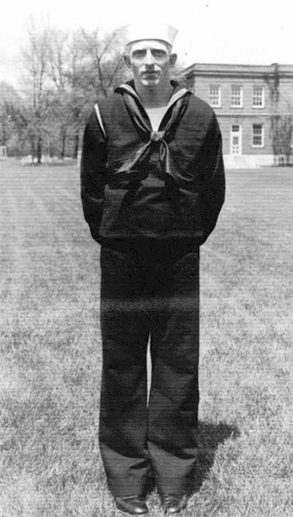 In this undated photo released by the Defense POW/MIA Accounting Agency is Navy Seaman 1st Class William G. Bruesewitz. Bruesewitz, of Appleton, Wis., was killed on the USS Oklahoma and will be buried Friday, Dec. 7, 2018, in Arlington National Cemetery, near Washington, D.C. (Defense POW/MIA Accounting Agency via AP)