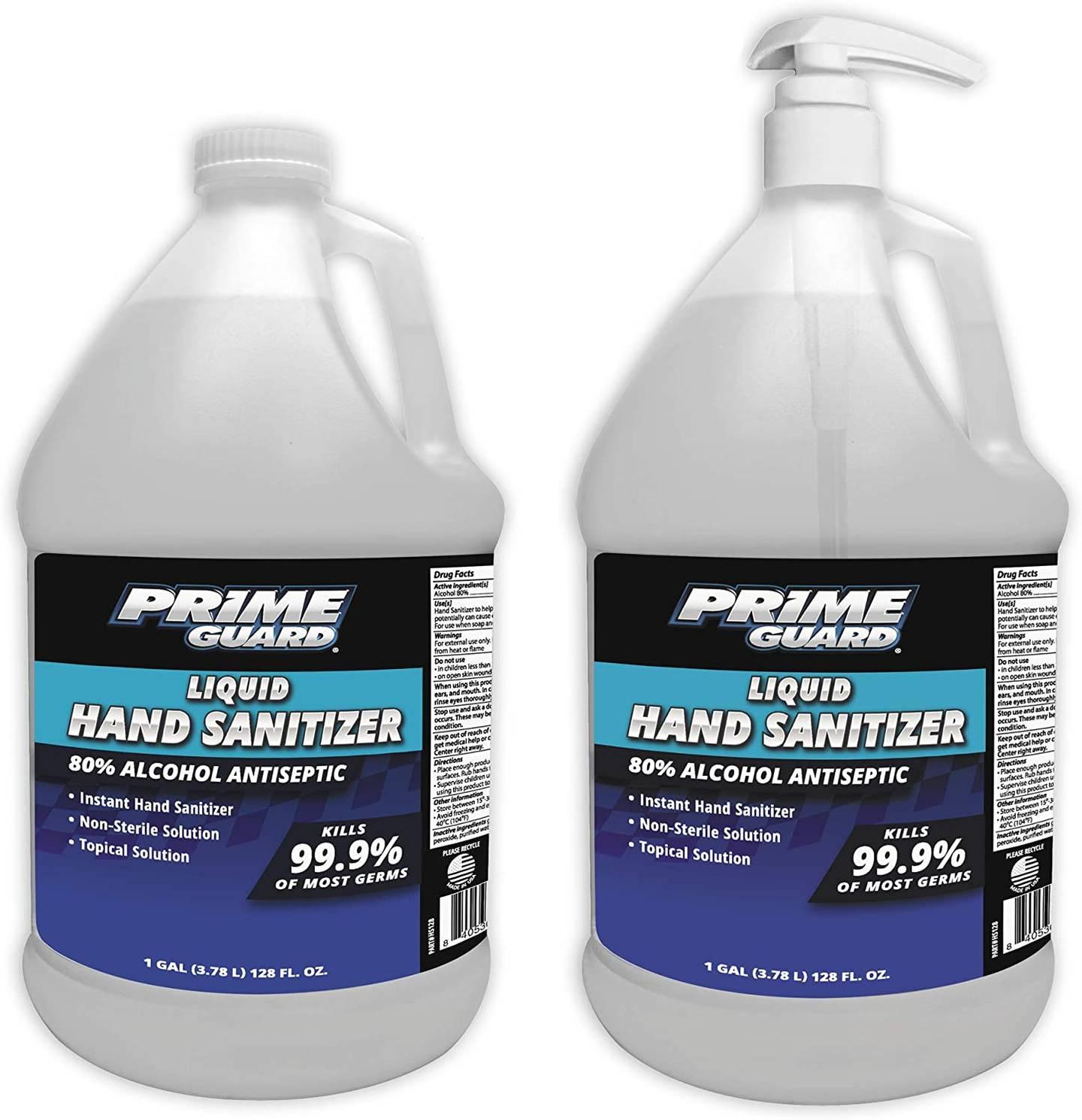 Prime Guard Alcohol Anti-Septic Liquid Instant Hand Sanitizer