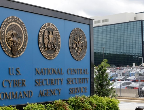 The cemetery lies within a National Security Agency Cyber Defense Campus. (Patrick Semansky/AP)