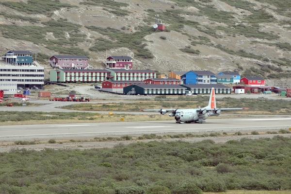 An American LC-130 Skibird takes off from Kangerlussuaq, Greenland, on June 29, 2014, for Summit Camp. (Staff Sgt. Benjamin German/U.S. Air National Guard)