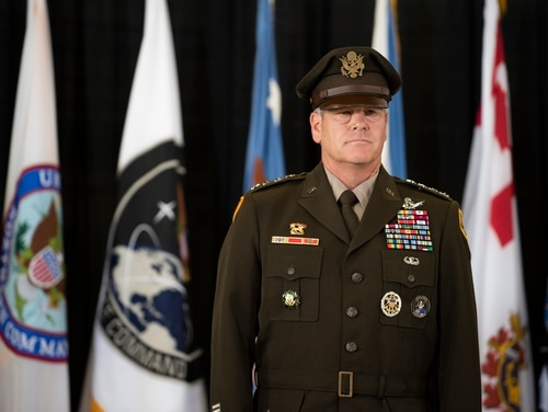 U.S. Space Command head Gen James Dickinson called out perceived Russian aggression in Space Dec. 16, following another Russian anti-satellite weapon test. (Lewis Carlyle / Department of Defense)