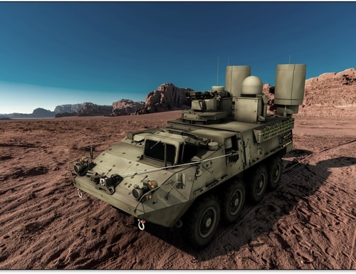 An artist's conceptual rendering of Lockheed Martin's offering for the U.S. Army's Terrestrial Layer System-Large. (Lockheed Martin)