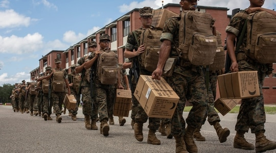The Department of Defense plans to use Marine Corps Logistics Base Albany, Georgia, to test the viability of 5G-enabled smart warehouses, which could transform military logistics. (Marine Corps)