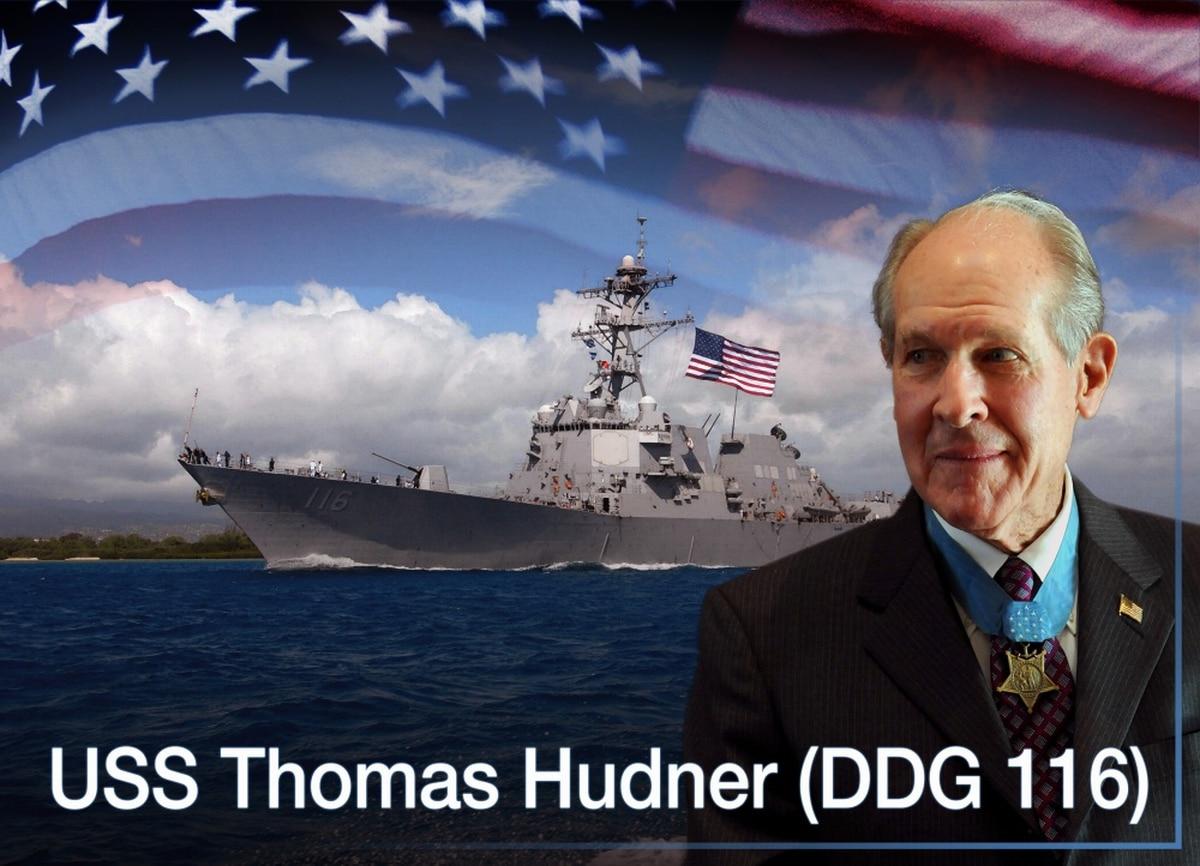 future destroyer thomas hudner leaves bath iron works for open ocean
