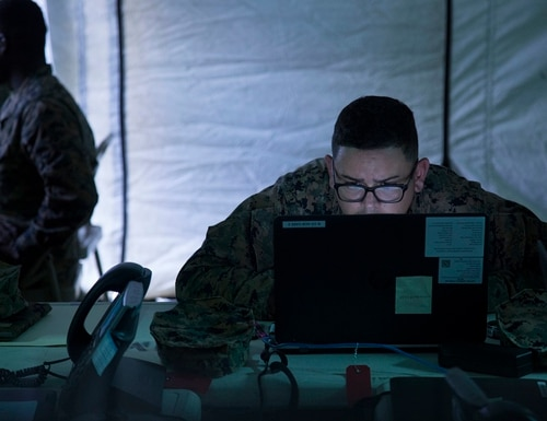 The Defense Enclave Services contract would standardize Fourth Estate networks. (Lance Cpl. Zackary Walker/Marine Corps)