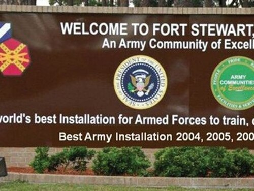 Tevin Biles-Thomas, 24, was arrested Thursday at Fort Stewart, Georgia.