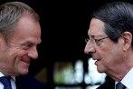 European Council president urges Turkey to halt drilling