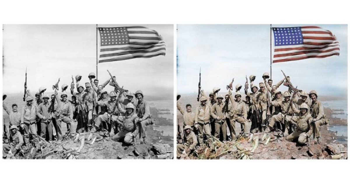 Colorized photographs give life to these WWI, WWII U.S. troops