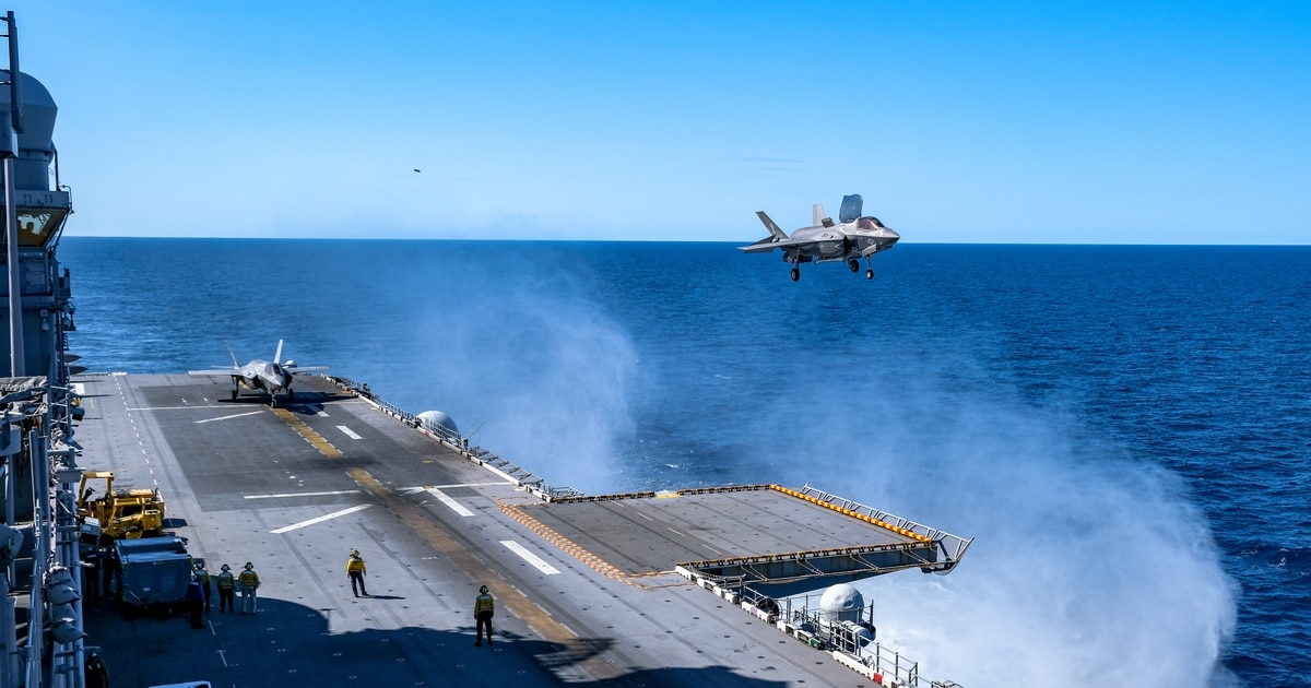 See F-35B jets take off at sea for Australian exercise Talisman Sabre