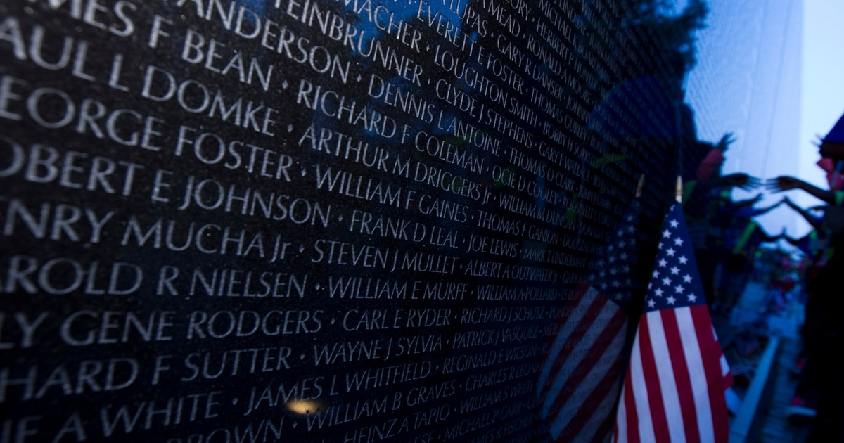3 new names on Vietnam Veterans Memorial to be recognized as