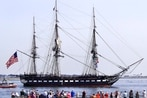 Boom! Boom! Boom! USS Constitution fires cannons to honor CPO selectees!