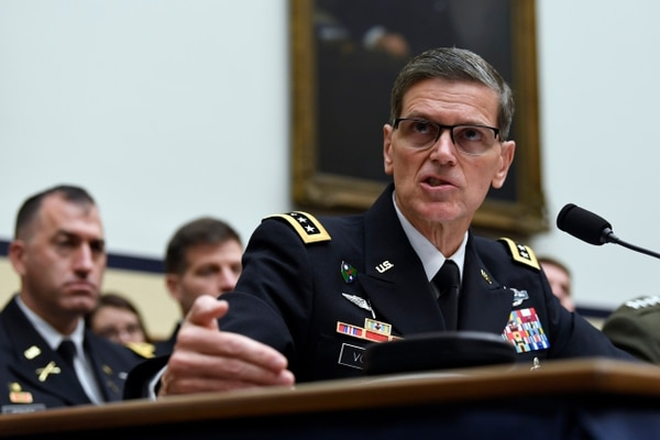 U.S. Central Command chief Gen. Joseph Votel testifies before the House Armed Services Committee on March 7, 2019. (Susan Walsh/AP)