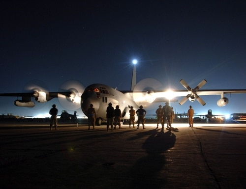 The Air Force is looking for market research for companies that can perform electronic vulnerability analysis of aircraft in the C-130 family. (Capt. James H. Cunningham/Air Force)