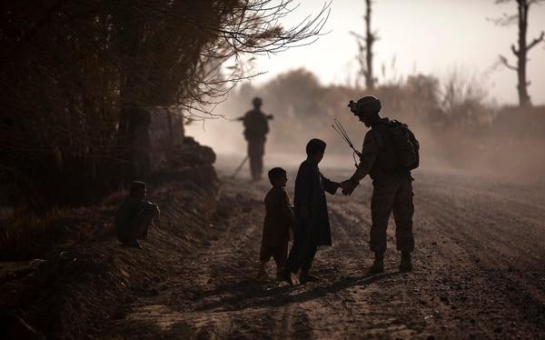 Marines on patrol in Afghanistan. (Cpl. Reece Lodder/Marine Corps)