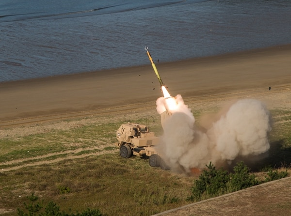 U.S. soldiers launch rockets from an M142 High Mobility Artillery Rocket System. (Sgt. Ashley Marble/U.S. Army)