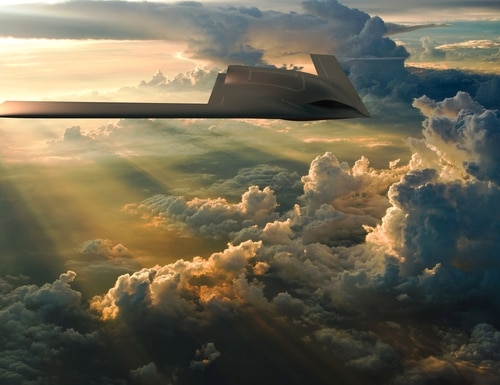 A rendering of an uncrewed aerial vehicle designed by General Atomics as a potential contender for the U.S. Air Force MQ-Next program. (General Atomics)