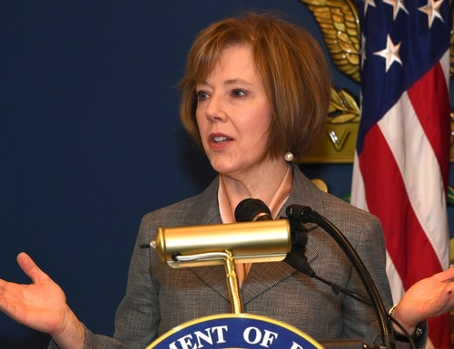 Lisa Hershman is the chief management officer of the U.S. Defense Department. (Darrell Hudson/U.S. Army)