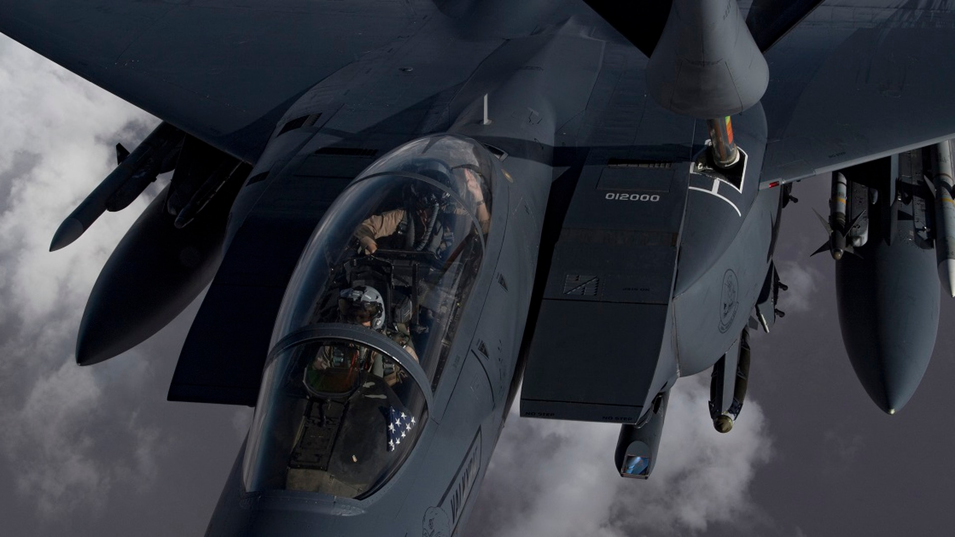 An Air Force F-15 Strike Eagle flies over northern Iraq Nov. 6. (Staff Sgt. Daniel Snider/Air Force)