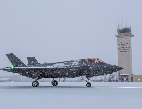 According to Lockheed, the F-35 Lightning II testing is part of the certification process for the Royal Norwegian Air Force. It will continue over the next several weeks in Alaska. (Lockheed Martin)
