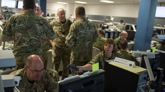 The biggest concern for the NATO alliance might not be agreeing on a framework for when collective defense is triggered from a cyberattack. But rather, how can the alliance address daily cyber events that fall below armed conflict? (Navy Petty Officer 2nd Class Jesse A. Hyatt/DoD)