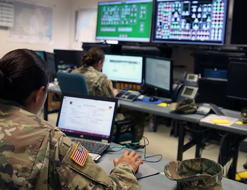 The Army wants companies to provide a tool for commanders in the tactical space to be able visualize and understand the cyber component to their battlespace. (William B. King/Army)
