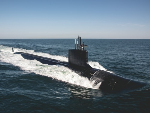 Two sea power advocates in Congress are making the case to grow the Navy's budget, along with the Air Force and cyber capabilities, at the expense of the other services. (U.S. Navy via Huntington Ingalls Industries)
