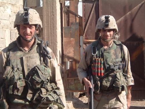 Staff Sgt. David Bellavia, left, in Iraq. (Army)