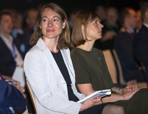 Merle Maigre, shown here at CyCon 2017, has been named the incoming director of the NATO Cooperative Cyber Defence Centre of Excellence. (Estonian Defence Forces)