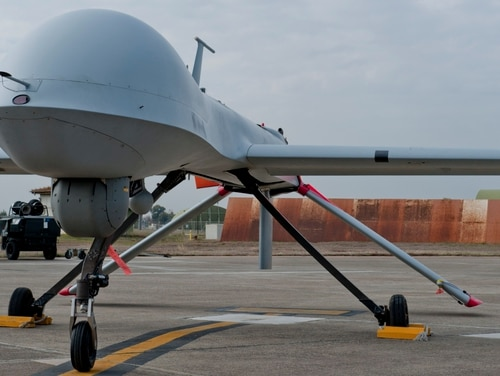 An MQ-1B Predator from the 414th Expeditionary Reconnaissance Squadron sits on the flightline at Incirlik Air Base, Turkey, in 2012. (Senior Airman Anthony Sanchelli/Air Force)