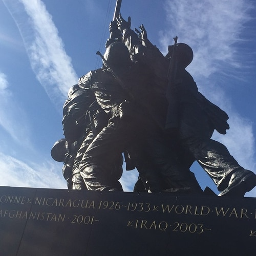 Engravings for the Afghanistan and Iraq campaigns were officially added to the Marine Corps war Memorial on Nov. 21. (Jeff Schogol/Staff)