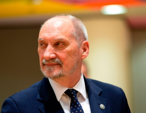 Polish Defence Minister Antoni Macierewicz is seen prior to a European Union Foreign Affairs (Defence) Council meeting held at the EU Council building in Brussels, May 18, 2017. / AFP PHOTO / THIERRY CHARLIER (Photo credit should read THIERRY CHARLIER/AFP/Getty Images)