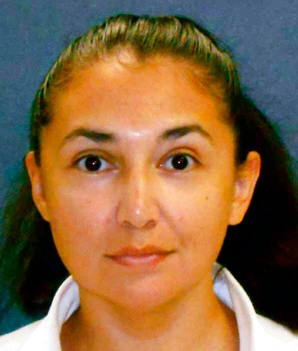 This photo provided by the Texas Department of Criminal Justice shows Diane Zamora, a former Naval Academy midshipman serving a life sentence in Texas for the 1995 slaying of the high school girlfriend of her former Air Force Academy boyfriend. (Texas Department of Criminal Justice via AP)