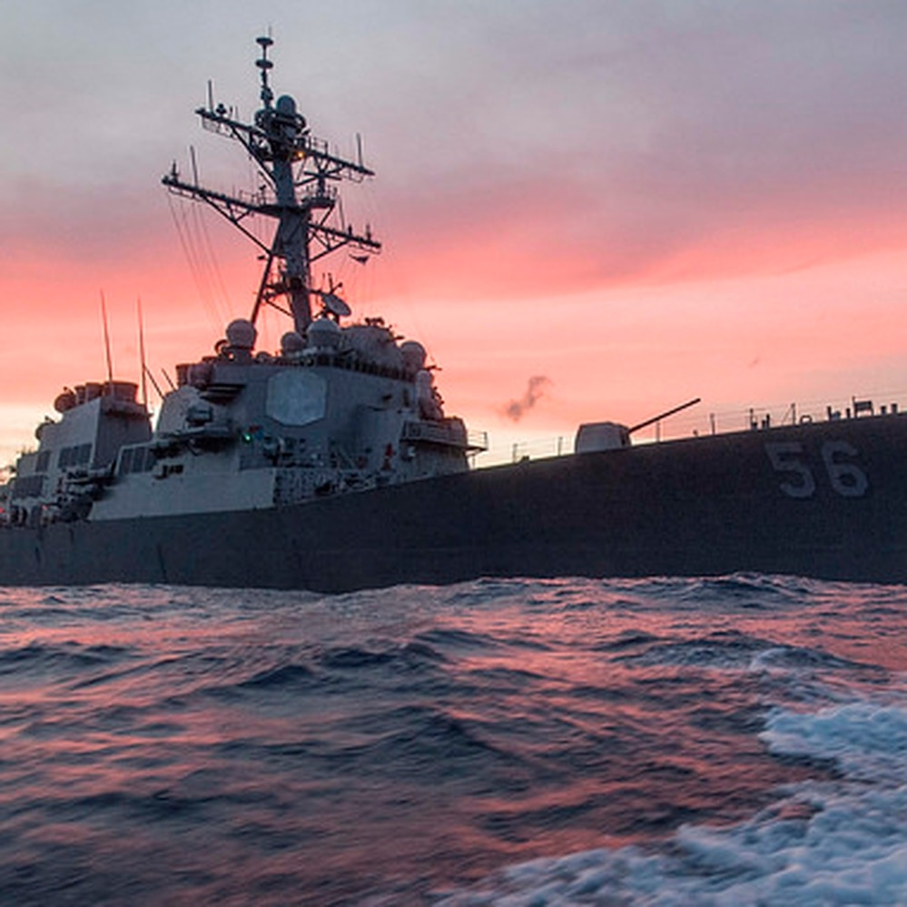The guided-missile destroyer John S. McCain. (Mass Communication Specialist 3rd Class James Vazquez/Navy)