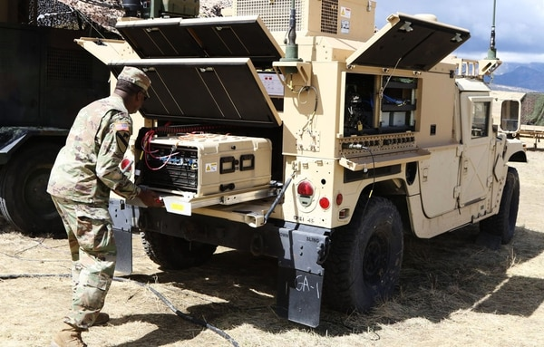 Researchers with the U.S. Army Research Development Engineering Command have found a host of ways to make mission command equipment more mobile, rugged, resilient and easier to use such as the Command Post Platform - Improved pictured here. (RDECOM)