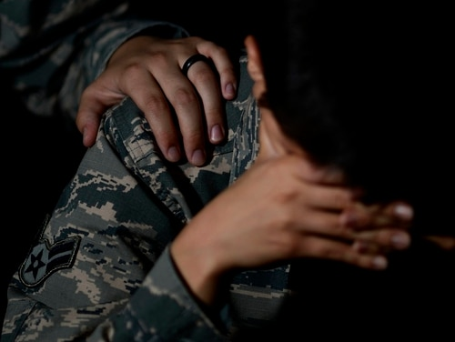 Photo illustration from the Air Force's Suicide Prevention Month outreach last September. (Airman 1st Class Kathryn R.C. Reaves/Air Force)