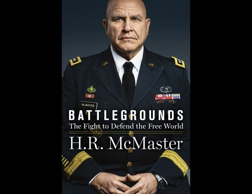 """This book cover released by HarperCollins shows """"Battlegrounds"""" by Lt. Gen. H.R. McMaster. The book, by President Donald Trump's second national security adviser, will come out on April 28, 2020. (HarperCollins via AP)"""