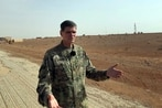 The top US general in the Mideast visits troops fighting Islamic State in Syria