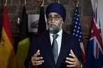Canadian defense minister talks fighter competition and geopolitics