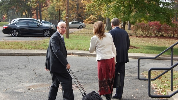 Retired Army Maj. Gen. James Grazioplene leaves the courthouse at Fort Belvoir, Virginia after his arraignment on six charges related to raping a minor over the course of six years. (Todd South/Staff)