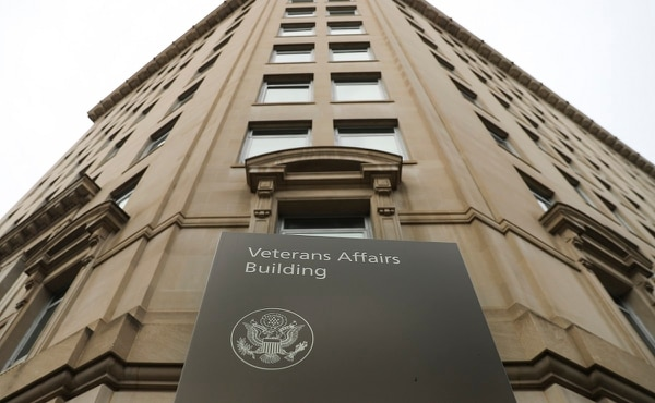 The Veteran Affairs headquarters building near the White House is shown on Feb. 14, 2018. The department has been entangled in a fight over