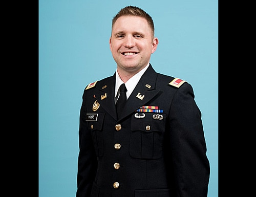 1st Lt. Cody Holte, 29, was killed during the shootout at a local apartment building in Grand Forks, North Dakota, while working in his role as a police officer. (Army)