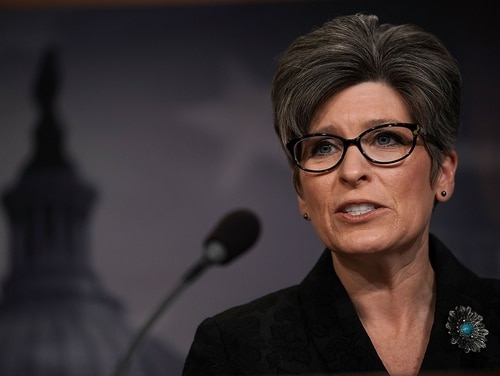 Sen. Joni Ernst, R-Iowa, is among lawmakers telling President Trump his aluminum and steel tariffs could hurt national security and America's alliances. (Alex Wong/Getty Images)