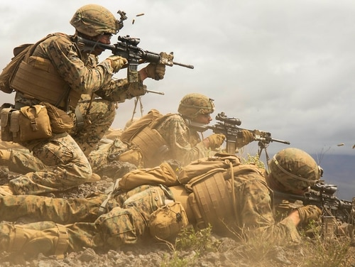 The force design plan has led to the Corps eliminating tanks, a future reduction in tradition tube artillery, along with a restructure of Marine Corps infantry to make it smaller, lighter and more mobile. (Cpl. Brendan Custer/Marine Corps)