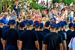 Cadets turn out at Coast Guard Academy for start of training