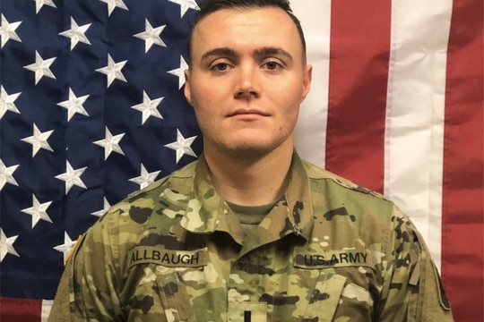 First Lt. Joseph Trent Allbaugh, 24, from Folsom, California, died as the result of a non-combat-related incident July 12 in Kandahar, Afghanistan. (Army)