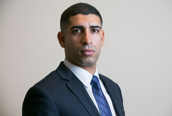 Florent Groberg was an Army captain when he received the Medal of Honor for saving several lives by tackling a suicide bomber during a dismounted patrol in Afghanistan on August 8, 2012. Photographed during an interview at the Pentagon in Arlington, Va., on Thursday, October 8, 2015.