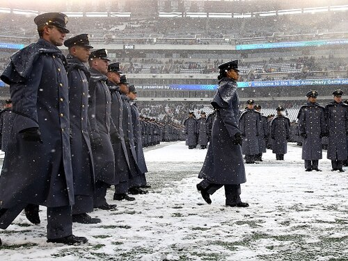 One West Point grad has made it his mission to prank rival Navy ahead of the annual rivalry game. (Elsa/Getty Images)