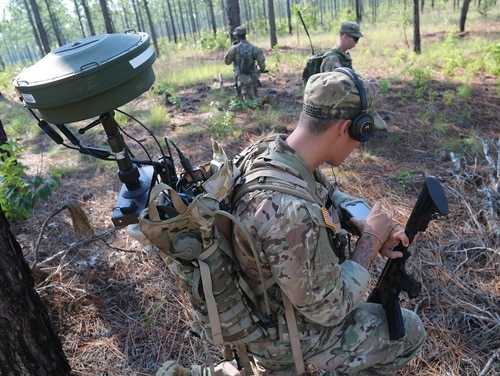 The Army is maturing several concepts, capabilities and units to conduct tactical cyber, electronic warfare, intelligence and information operations to support brigade commanders. (Spc. Kiara V. Flowers/Army)