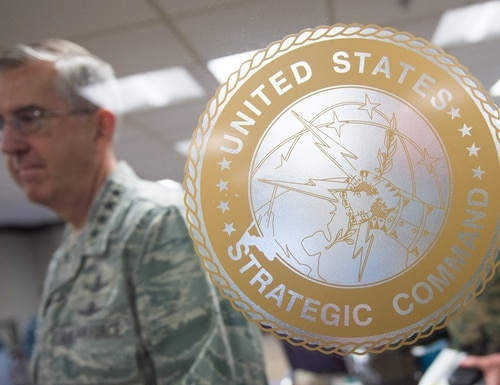 The head of STRATCOM shared a future vision in which capabilities from the multiple functional combatant commands are integrated. (D. Myles Cullen/U.S. Defense Department)