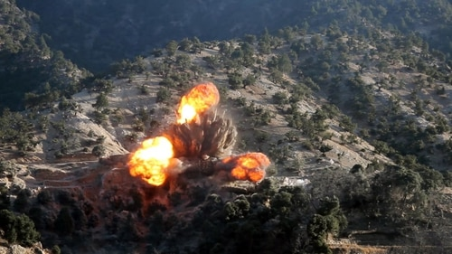 Two coalition airstrikes eliminated ISIS-K fighters and facilities in the Nangarhar and Jowzjan provinces of Afghanistan, Feb. 6. (Spc. Jacob Krone/ Army)